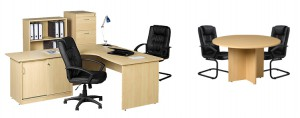 Desk set with meeting table